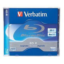 ($0 P & H) Verbatim Blu-Ray BD-R 25GB 5Pk Case 6Xspeed BluRay P/N 96910 43715