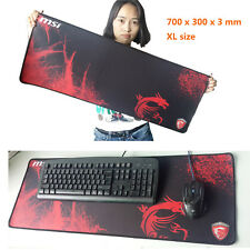 MSI Red 700*300*3MM Rubber Gaming Series Speed Game Mouse Pad Mat Large XL Size