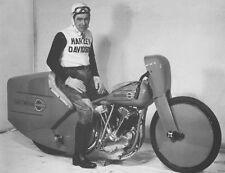 Harley-Davidson Knucklehead record bike 1937 & Joe Petrali - motorcycle photo