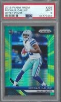 MICHAEL GALLUP 2018 Panini HYPER Prizm RC /275 PSA 9 RARE POP 2 DALLAS COWBOYS