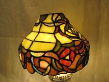 """Spectrum Tiffany Style Stained Glass Lamp / Light Shade ~ 5.25"""" H X 7.75"""" ~ VGC"""