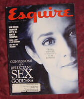 ESQUIRE February 1993 Debra Winger Tom Robbins Vaclav Havel Tim Russert