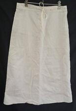 Ladies YARRA TRAIL SKIRT Sz 10 ladies beige cream A line Womens linen cotton