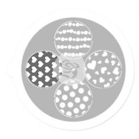 PRIMA Stencil PINWHEEL 7Inch 4Styles - use on Fabric Paper Chipboard & Canvas L1