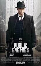 PUBLIC ENEMIES Movie POSTER E 27x40 Johnny Depp Christian Bale Billy Crudup