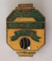 Woodend Bowling Club Badge Pin Vintage Lawn Bowls (L15)