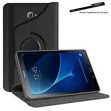 Housse Etui Noir pour Samsung Galaxy Tab A 10.1 SM T580 Support Rotatif 360°