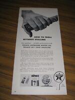 1958 Print Ad Texaco Outboard Motor Oil & Sky Chief Gasoline