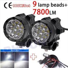 2X  9 CREE Chips LED Motorcycle headlights Motos Bulb Fog Spotlight Super bright