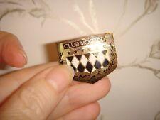 VINTAGE CLUB MONACO Pin Spilla dal Canada Oro Bianco Nero Stelle Design Classico