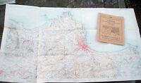 1930 GRANDE CARTA GEOGRAFICA T.C.I. PALERMO, CONCA D'ORO, CARINI, PARTINICO.....