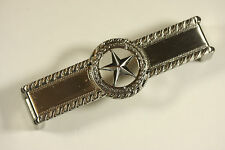 STAR WITH BARBWIRE PULL SATIN NICKEL WESTERN CABINET HARDWARE DRAWER PULLS