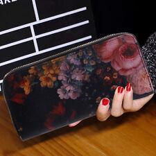 Fashion Women Leather Bifold Wallet Clutch Card Phone Holders Purse Long Handbag
