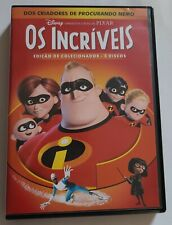 The Incredibles [Os Incriveis]1 and 2 Dvd Set Pack Box Set Portuguese & English.
