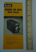 Kodak Brownie Fun Saver Movie Camera 1963 Folder Vintage Advertising
