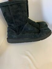 UGG Boots Womens US 10 Black Fur Inside Flat