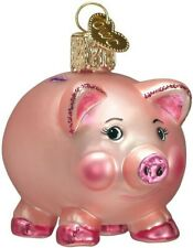 Old World Christmas 36061 Glass Blown Piggy Bank Ornament
