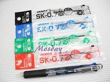 Zebra Clip-On 4 Colors 0.7 Ball Point Pen+0.5 Mechanical Pencil, 4 refills, CBK