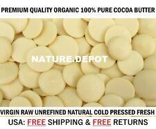 1/2 Lb 100% PURE Raw Cocoa/Cacao Butter WAFERS PRIME COLD PRESSED Natural 8 oz