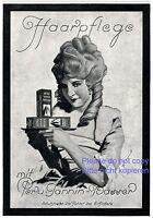 Haarpflege Peru Tannin Reklame 1925 Dame Perücke Rokoko Barock Shampoo Werbung