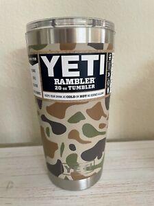 YETI 20 oz Camo Camouflage Rambler Tumbler Cup Magslider Lid Free Shipping