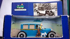 """VOITURE MINIATURE TINTIN 1/43è  LE  TAXI CHECKER  de   """"Tintin en Amérique"""""""