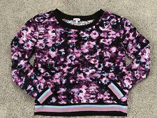 d2d1acfcd4dc Splendid Girl Purple Floral Long Sleeve Pullover Sweatshirt Top Sz 14 EUC