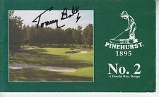 Tommy Bolt   Pinehurst #2   Master Scorecard Signed w/ COA  Golf -