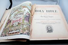 Antique Pictorial Family Bible Engraved Images in Color and B&W including Maps