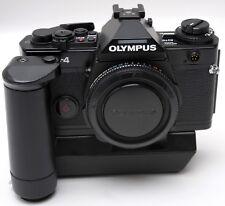 * BLACK OLYMPUS OM-4 CAMERA BODY & OM WINDER 2