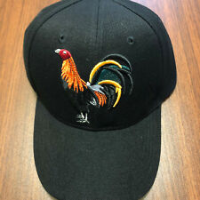 Rooster Cock hat Western Style Embroidered Baseball cap  Adjustable - Black