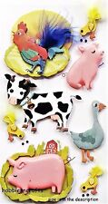 EK SUCCESS JOLEE'S 3-D STICKERS - DUCKS COW PIGS CHICKENS - FARM ANIMALS