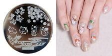Arte de uñas imagen Planchas para Estampar placa Decoracion Gatito Gato Afortunado Maneki-neko he23