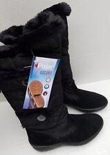 Pajar Chloe Tall Black Winter Snow Boots Waterproof Faux Fur Zip 38 Canada NEW