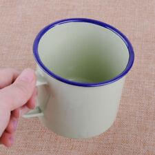 Vert clair 300ml émail Verre Coupe Tasse Boire Café Bière Vintage Enamel Cup Mug