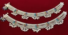 Kind Beautiful Bridal Bollywood Anklet Jhanjar,Payal Pure Solid Silver One Of A