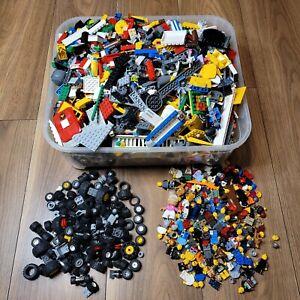 Genuine Lego Bundle 1kg Mixed Bricks Parts Pieces Figures Wheels and Tires (1kg)