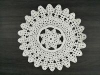 Doily Hand Crocheted White Star Pattern Diameter 30 cm Made in Australia