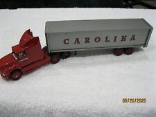 Winross 1:64 (S gauge) Carolina T/T Cab & trailer w/box Rear doors open Nice