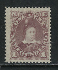 Newfoundland 1880-96 Prince of Wales 1c violet brown--Attractive Topical (41) MH