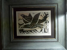 Print Dry Point:  Artist J. Schedler Title: Flying Fish, Dated 1954