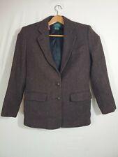 New listing Vtg Lauren by Ralph Lauren Women's Equestrian Brown Blazer Wool Nylon Size 10