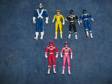 Mighty Morphin Power Rangers 1993 Bandai 4 Inch Figures Lot Of 6 Yellow Red Blue