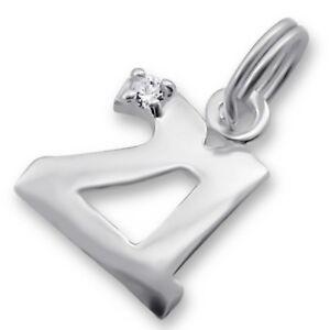 "Silvadore NUMBER ""21"" CZ 925 Sterling Silver Split Ring Charm Bracelet Box 041"