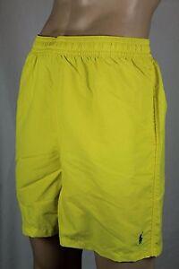 Ralph Lauren Yellow Swim Shorts Trunks Green Pony NWT
