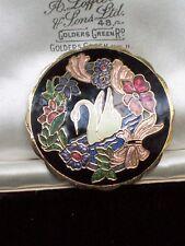 VINTAGE Bigiotteria firmato pesci dell'era Maji SMALTO swan bird Floreale Spilla Pin