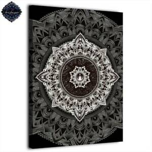 Mandala by Brizbazaar Art 1 Panel Canvas Poster Wall Picture Decor HD Print