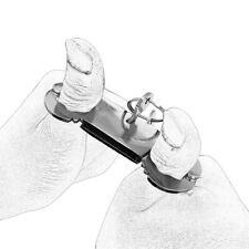 Lockable Metal Steel Finger Cuffs thumb handcuffs restraint slave Thumbcuffs