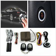 Car SUV Alarm System Keyless Entry Button Engine Start Push Starter +Remote Kits