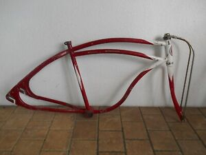 "Vintage 26"" Colson Looptail Bicycle Frame. Balloon Tire."